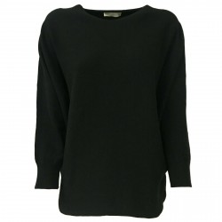 TREDICINODI women's sweater over black 70% wool 30% cashmere mod M13125 MADE IN ITALY