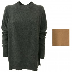 SO.BE women's sweater over mod 9515 100% wool MADE IN ITALY