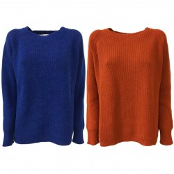 ANNA SERAVALLI woman sweater over wool mod S793 MADE IN ITALY