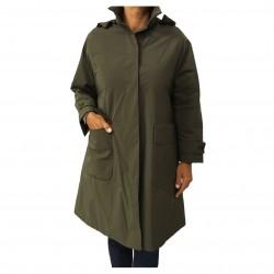 ASPESI giaccone donna con cappuccio verde militare mod FRATICELLO 7N15 1943 100% poliestere