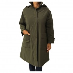 ASPESI women's hooded jacket, military green, fashion FRATICELLO 7N15 1943