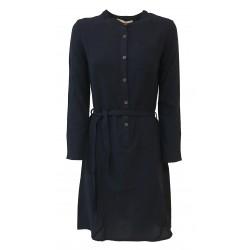 HUMILITY 1949 abito donna blu lana con bottoni mod HA3033 MADE IN ITALY