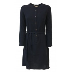 HUMILITY 1949 woman dress blue wool mod HA3033 MADE IN ITALY