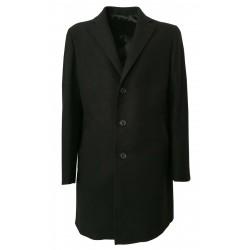 LUIGI BIANCHI cappotto uomo grigio vestibilità regular slim 95% lana 5% cashmere