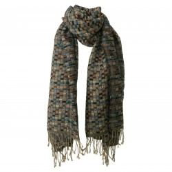 ALPHA STUDIO women's wool scarf art AD-2802S MADE IN INDIA