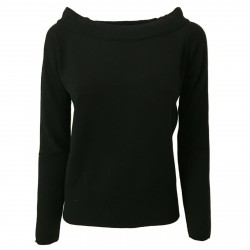 ALPHA STUDIO women's black sweater art AD-2300C 30% wool 15% cashmere