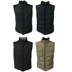FLY3 Men's padded vest 100% wool + nylon mod GU418 MADE IN ITALY