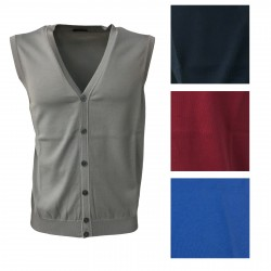 FERRANTE men's vest light blue with buttons 100% cotton MADE IN ITALY