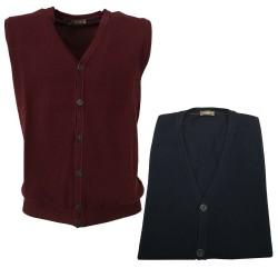 FERRANTE gilet uomo 34U22408 100 % lana MADE IN ITALY vestibilità regolare