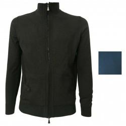 ALPHA STUDIO Cardigan uomo con zip mod AU-1071E 100% lana Merino Extrafine