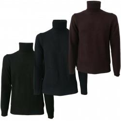 ALPHA STUDIO man sweater turtleneck art AU-1131G 100% wool merinos