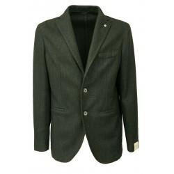 L.B.M. 1911 giacca uomo sfoderata grigio verde vestibilità slim