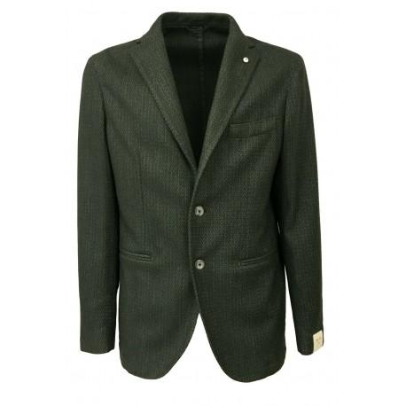 L.B.M. 1911 giacca uomo sfoderata vestibilità slim 63% lana