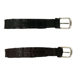 MANIERI man baby crocodile belt height 3 cm 100% leather MADE IN ITALY