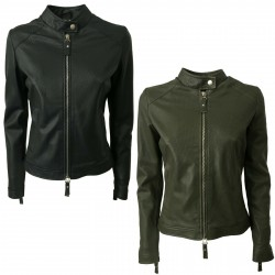PIETRASETA FIRENZE jacket woman with zip mod JCELINE 100% leather MADE IN ITALY