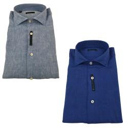 BROUBACK camicia uomo manica lunga lino art NISIDA N54 100% lino MADE IN ITALY