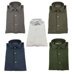 BROUBACK camicia uomo manica lunga mod NISIDA LINO 100% lino