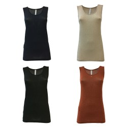 BE LIMOUSINE women's tank top lurex mod LC001L WATER MADE IN ITALY