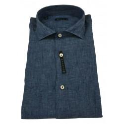 BROUBACK camicia uomo manica lunga lino art NISIDA N24 100% lino MADE IN ITALY