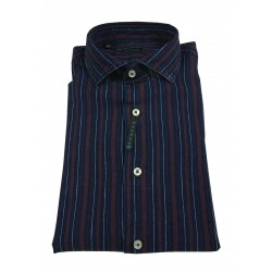 BROUBACK camicia uomo manica lunga righe larghe WASHED NISIDA N27 col 88 Made in Italy