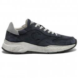 CRIME LONDON Sneakers uomo blu in pelle effetto vintage mod FUSE 11231PP2.40