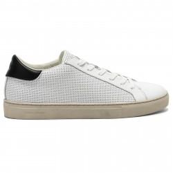 CRIME LONDON Sneakers uomo bianco in pelle perforata mod BEAT 11510PP2.10