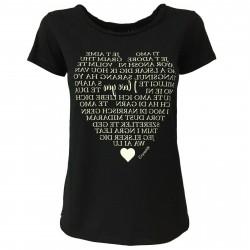 EMPATHIE T-shirt donna nero mezza manica mod 2006 100% cotone MADE IN ITALY