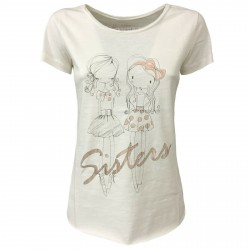 EMPATHIE women's t-shirt cream mod 2003 100% cotton MADE IN ITALY