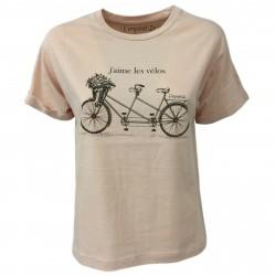 EMPATHIE T-shirt donna cipria mezza manica mod 0405 100% cotone MADE IN ITALY