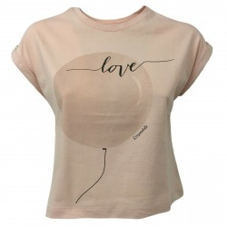 EMPATHIE T-shirt donna cipria manica scesa mod 0205 100% cotone MADE IN ITALY