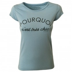 EMPATHIE women's t-shirt light blue mod 0105 100% cotton MADE IN ITALY