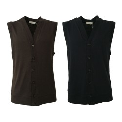 GIRELLI BRUNI men vest 80% cotton 10% cashmere 10% silk Made ITALY