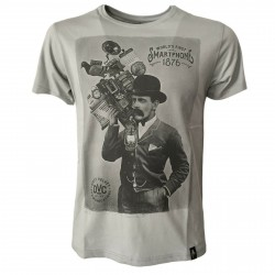 DIRTY VELVET t-shirt man grey art SMARTPHONE DV30104 100% organic cotton
