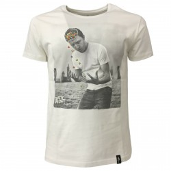 DIRTY VELVET t-shirt man white art Losing your marbles DV64704 100% organic cotton