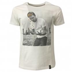 DIRTY VELVET T-shirt uomo bianco mod Losing your marbles DV64704 100% organic cotton