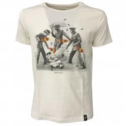 DIRTY VELVET T-shirt uomo bianco mod ARMED POLICE DV64711 100% organic cotton
