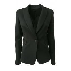 HANITA giacca donna tessuto operato nero mod H.J787.2706