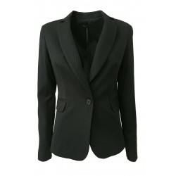 HANITA woman black textured fabric jacket mod H.J787.2706