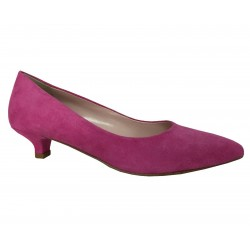 ELLEMME woman shoe spool heel 4 cm covered in fuchsia suede mod M504 MADE IN ITALY