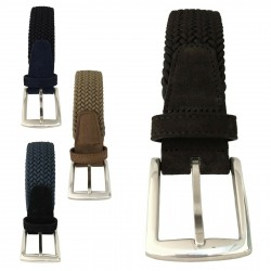 D'AMICO man belt elastic and suede mod ACU2047 MADE IN ITALY