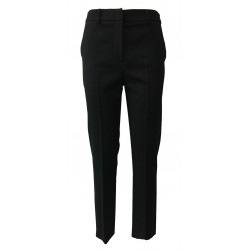 HANITA slim woman trousers black textured fabric H.P187VA.2706
