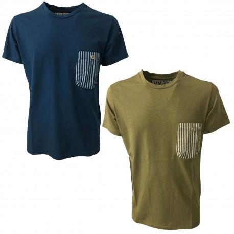 BKØ MADSON man t-shirt beige mod DU18013 100% cotton MADE IN ITALY