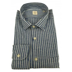 MGF 965 man long sleeve shirt with pocket blue / white stripes 10.TG.L 901315