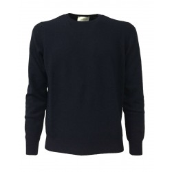 DELLA CIANA BLUE man crew neck sweater 62/18022 80% wool 20% cashmere MADE IN ITALY