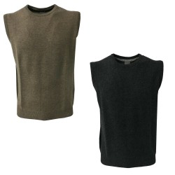 CA' VAGAN men's vest wrap round neck beige 90% wool merinos 10% cashmere art. 13703W MADE IN MONGOLIA