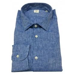 MGF 965 camicia uomo manica lunga con taschino azzurro mod 10.TG.L 901405