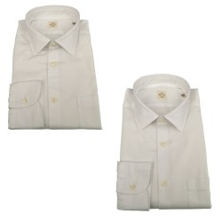 MGF 965 camicia uomo manica lunga con taschino bianca 10.TG.L 901106