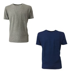MADE & CRAFTED men's half sleeve t-shirt with pocket mod 16380 CLASSIC TEE