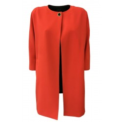HANITA woman duster 3/4 sleeve red / orange-black mod H.K815.2730 MADE IN ITALY
