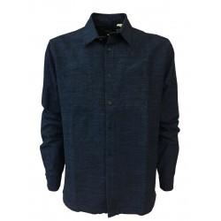MADE & CRAFTED LEVI'S camicia uomo blu chiaro tessuto JAPANESE mod 264550003